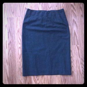 Theory Golda Light Wool Pencil Skirt Charcoal 0
